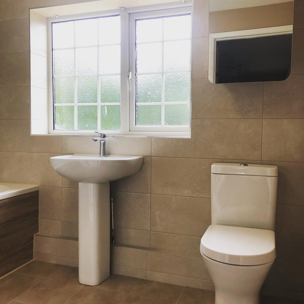 Bathroom Installation (Cream) In Kings Sutton, Banbury Bicester Property Interiors