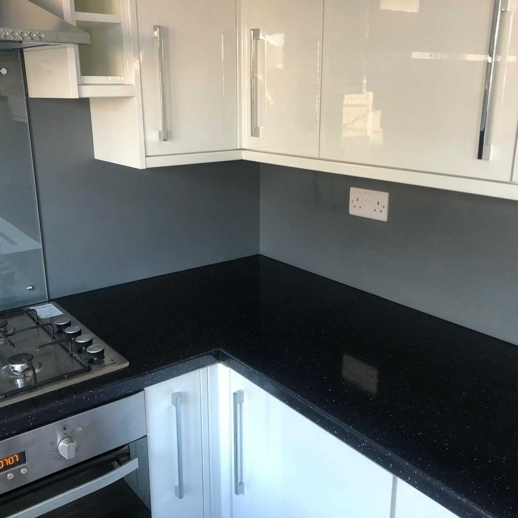 Kitchen Installation (White, Black & Grey) In Blenheim Drive, Bicester Bicester Property Interiors