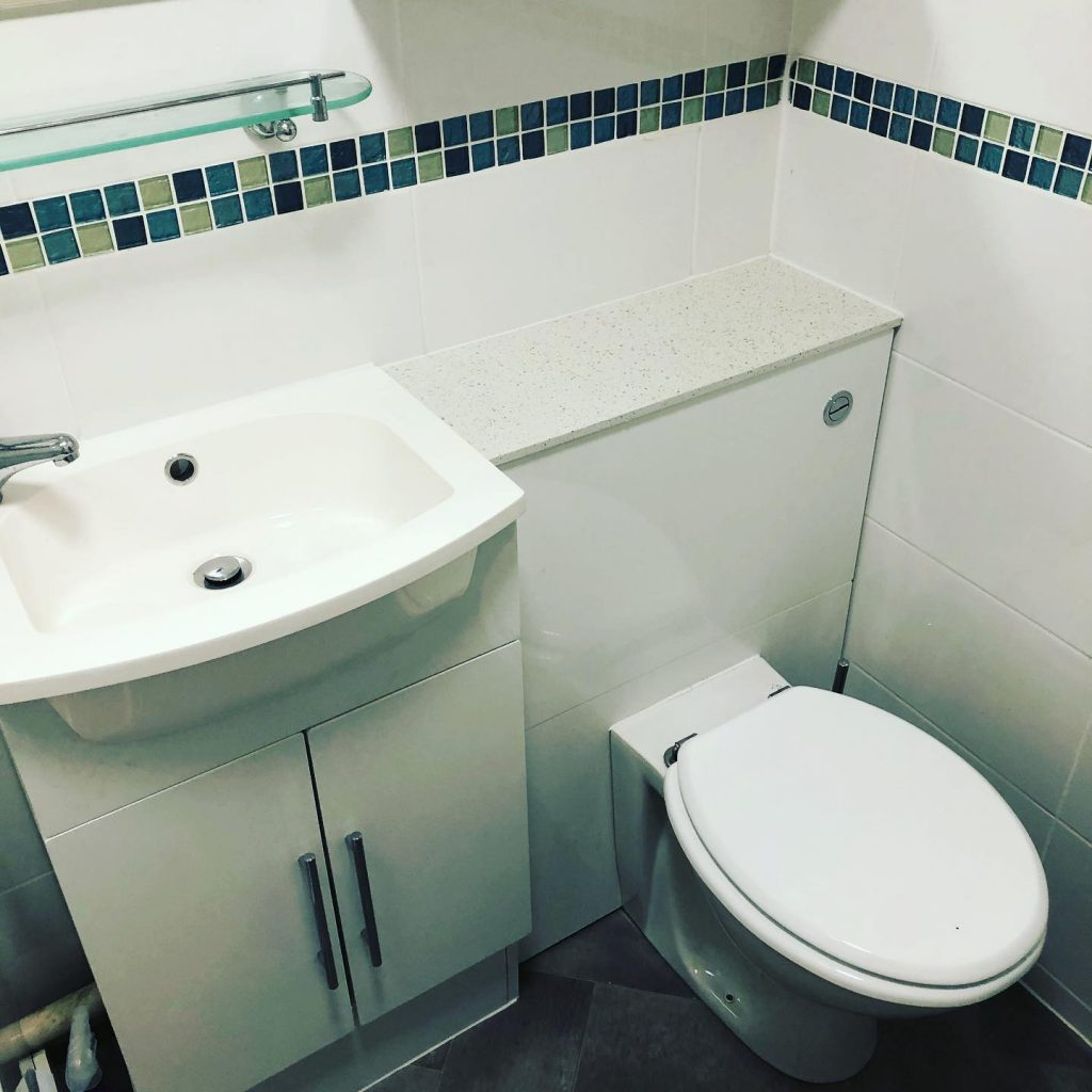 Bathroom Installation (White Mosaic) Southwold, Bicester Bicester Property Interiors