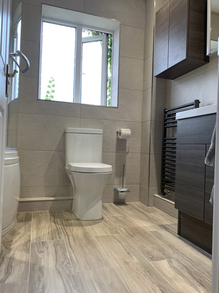 Bathroom Installation (Wood & Grey) Heron Drive, Brackley Bicester Property Interiors